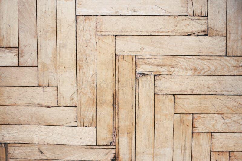 Pavimento di legno afflitto rustico fotografia stock libera da diritti