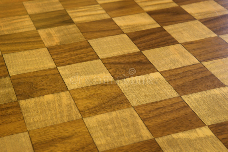 Pavimento di legno Checkered. fotografia stock