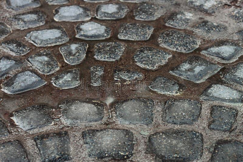 pavimento di pietra bagnato per il modello immagini stock libere da diritti