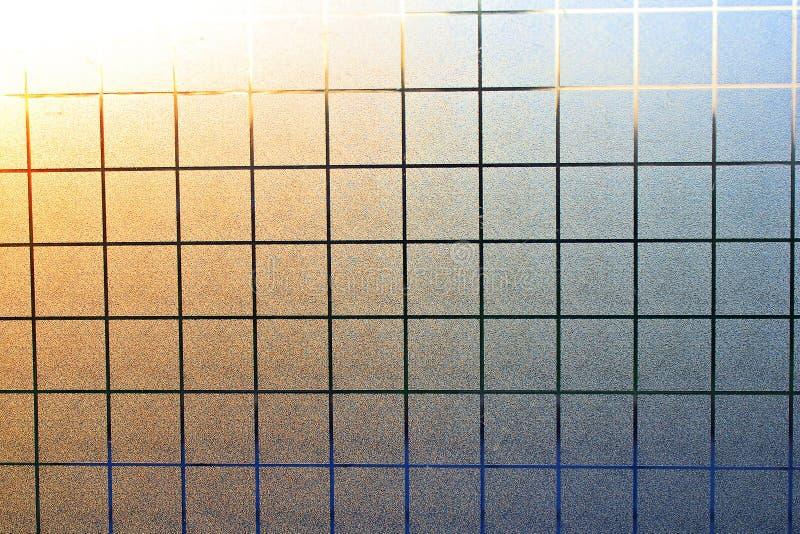 Pavimento di vetro con la lampadina fotografie stock libere da diritti