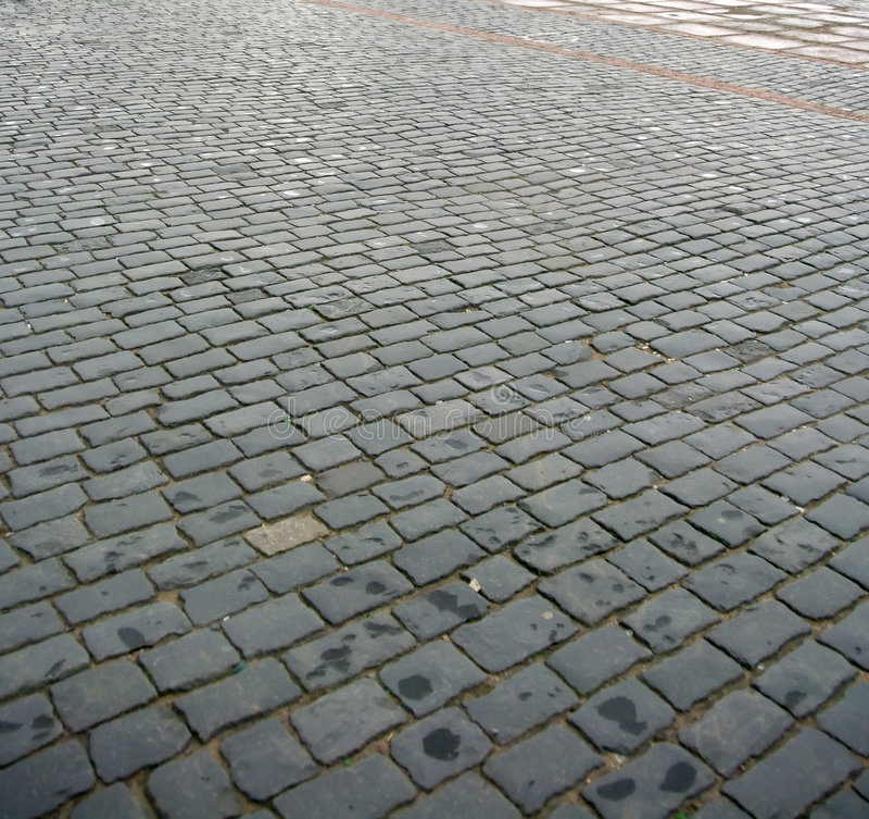 Pavimento do Cobblestone foto de stock