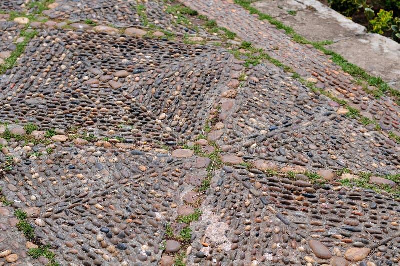 Pavimento dos seixos no kasbah dos udayas em Rabat, Marrocos imagem de stock royalty free