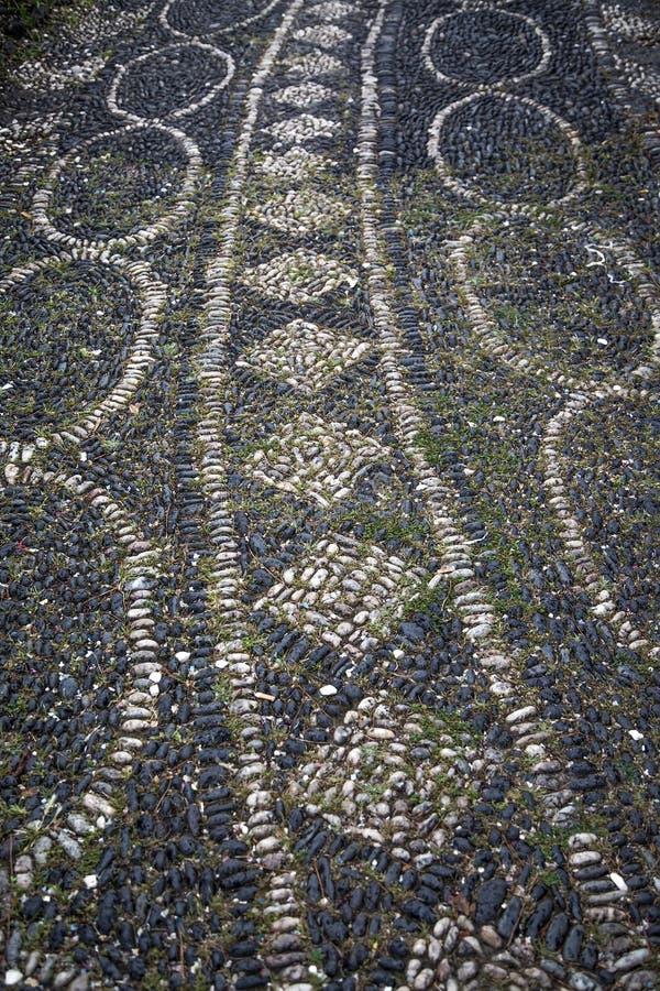 Pavimento en Catania, Italia imagen de archivo libre de regalías