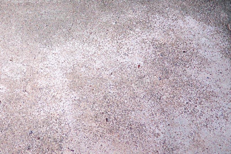 Pavimento grigio del cemento della vecchia crepa fotografia stock