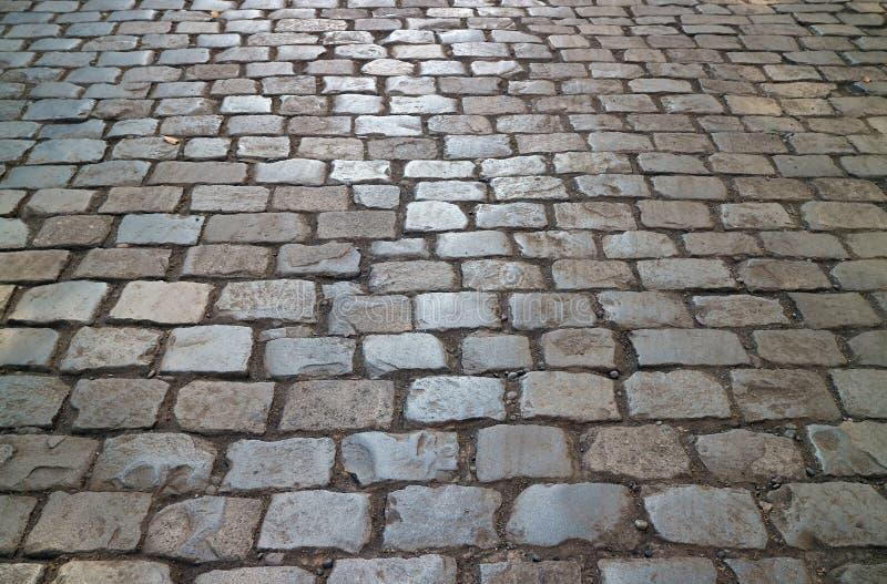 Pavimento histórico no parque público de Cerro Santa Lucia Hill, Santiago da pedra, o Chile imagem de stock royalty free