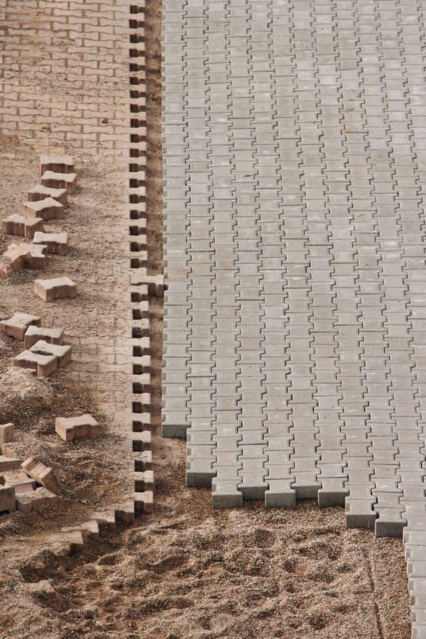 Pavimento Inacabado No Canteiro De Obras Imagem de Stock