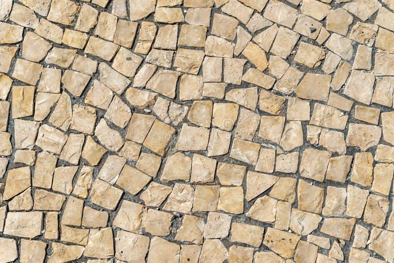 Pavimento Lisbona tipica, dettaglio di un suolo tipico nel Portogallo fotografia stock