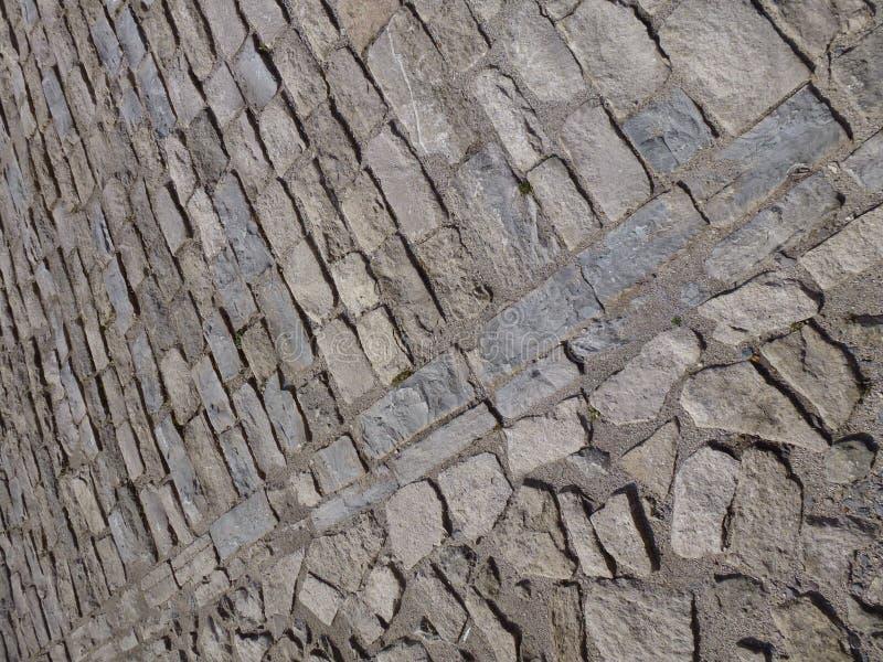 pavimento medievale del mattone fotografie stock libere da diritti