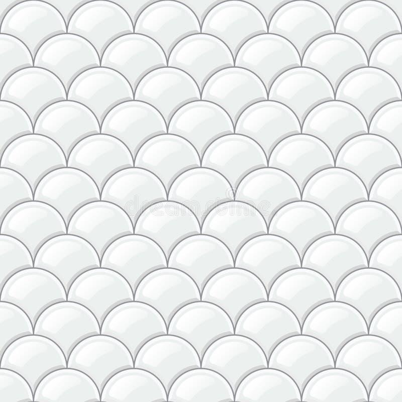 Pavimento non tappezzato bianco, modello senza cuciture realistico royalty illustrazione gratis