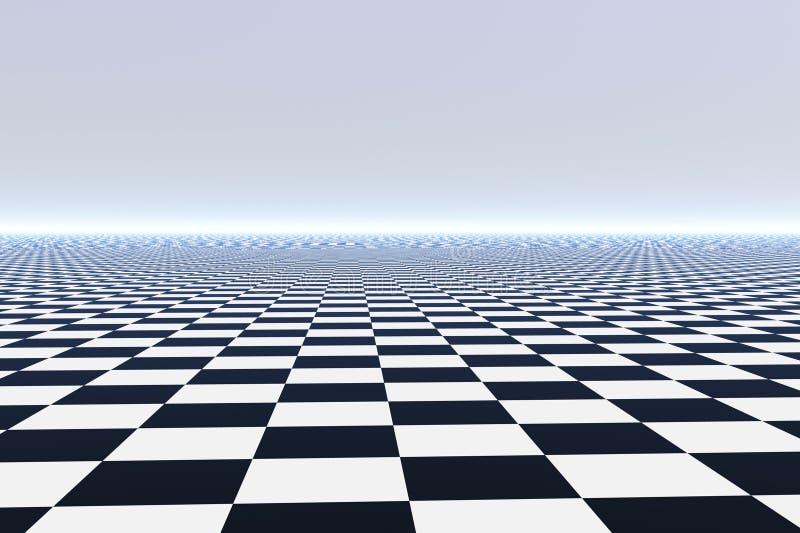 Pavimento non tappezzato infinito illustrazione vettoriale