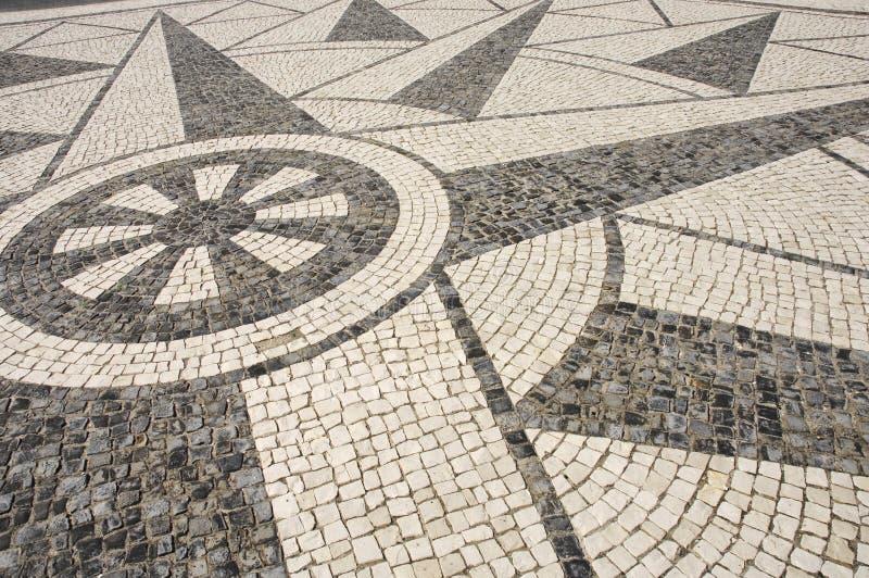 Pavimento portugués - textura fotos de archivo libres de regalías