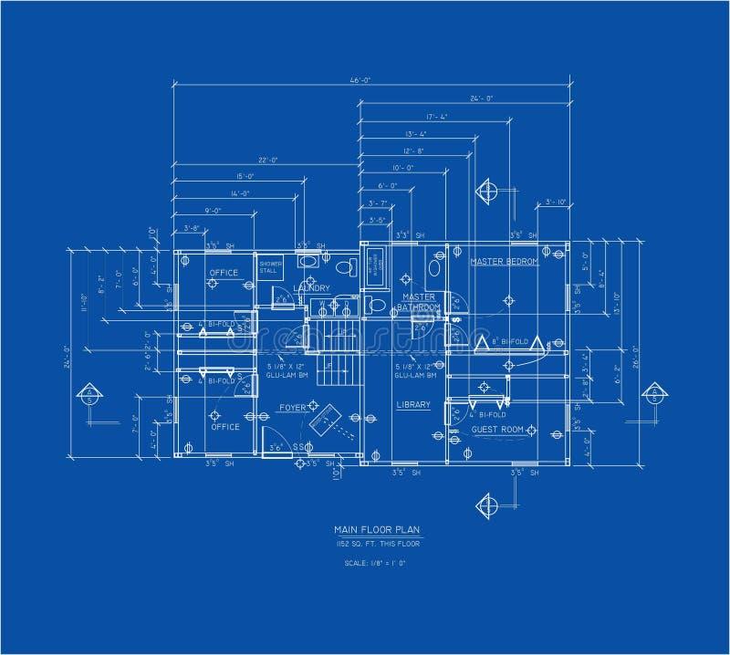 Pavimento principale della stampa blu illustrazione vettoriale