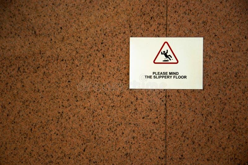 Pavimento sdrucciolevole fotografia stock