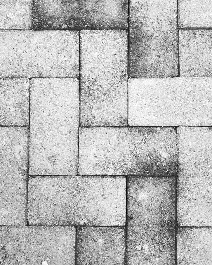 Pavimento y piso del ladrillo rojo: tiro blanco y negro imagen de archivo