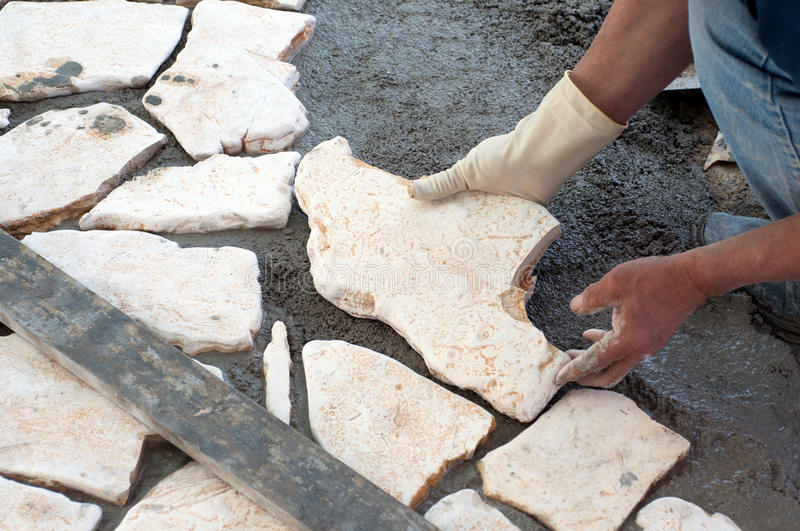Download Paving A Patio Stock Photo - Image: 39112356