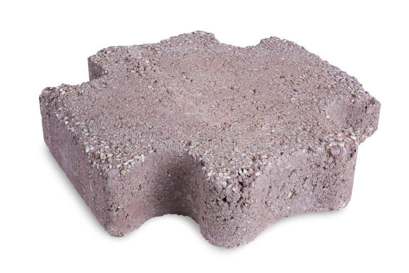 Paving stone. Isolated on a white background stock image