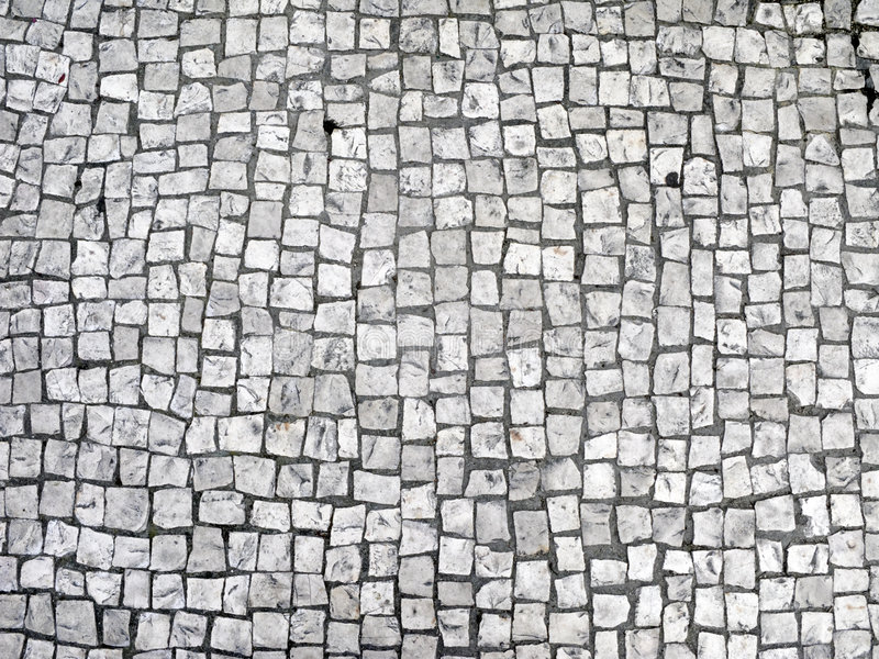 Paving stone. Floor of granite paving stone stock photo