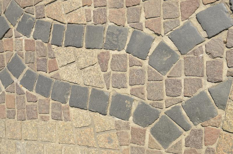Paving stone. On floor in the old town of Krakow, Poland royalty free stock images