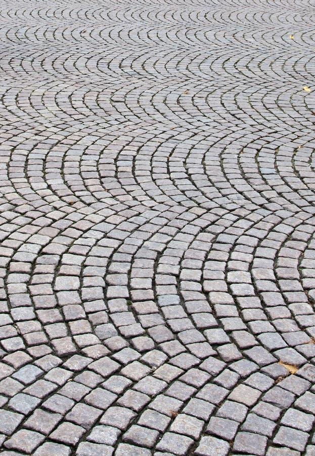 Paving stones. In a circular pattern stock photos