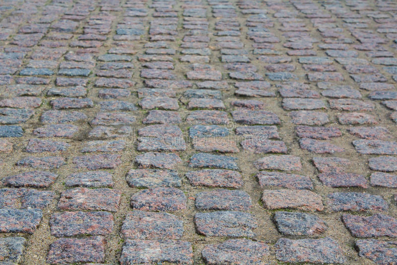 Paving stones. The road to the castle. stock photography
