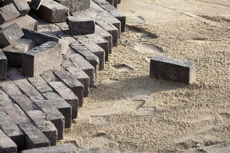 Download Paving stock photo. Image of sand, stone, rotterdam, street - 35723212