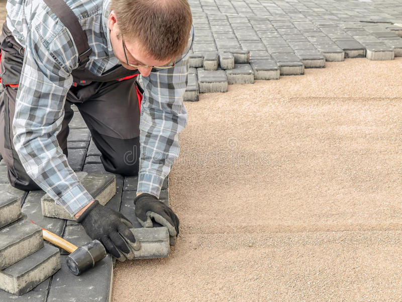 Paving work royalty free stock images
