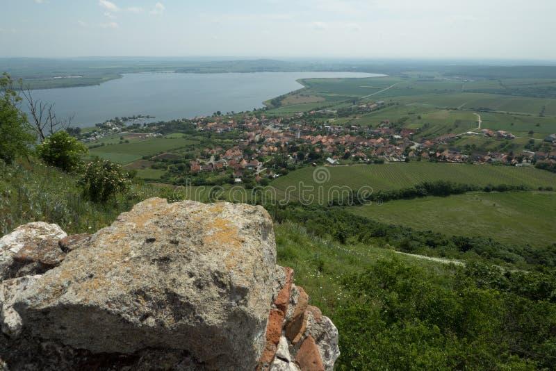 Pavlov by i södra Moravia royaltyfri fotografi