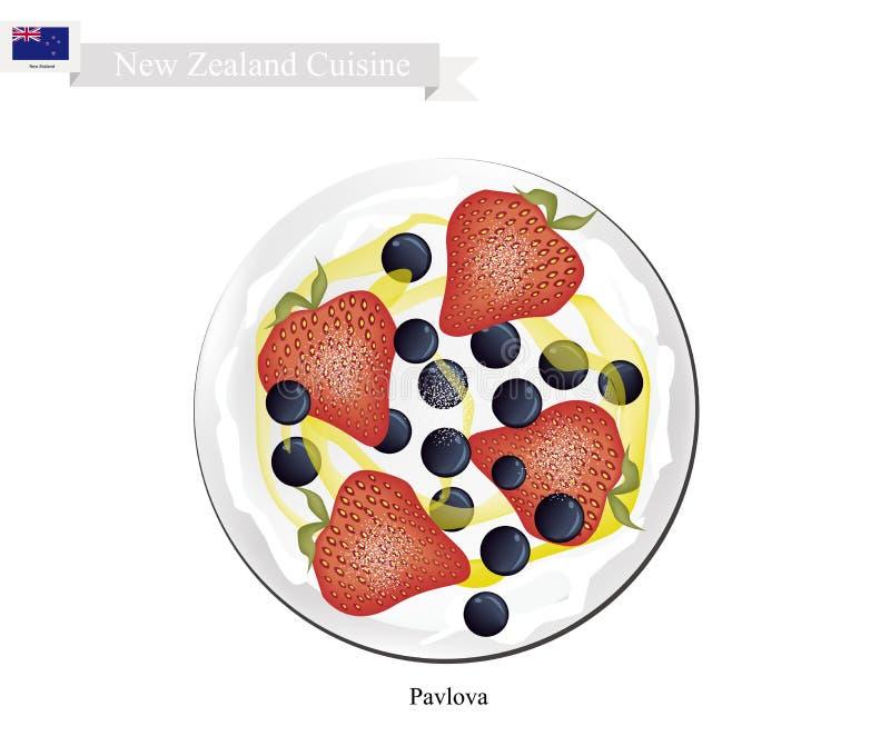 pavlova meringe kuchen mit erdbeeren und schwarzen. Black Bedroom Furniture Sets. Home Design Ideas