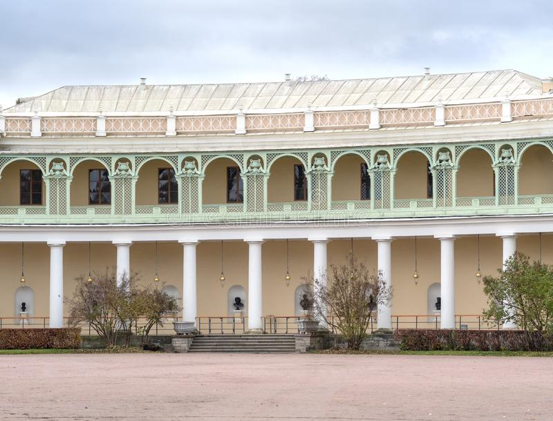 Pavlovsk pałac - lata cesarz Paul pałac Ja w Pavlovsk, St Petersburg, Rosja zdjęcie royalty free
