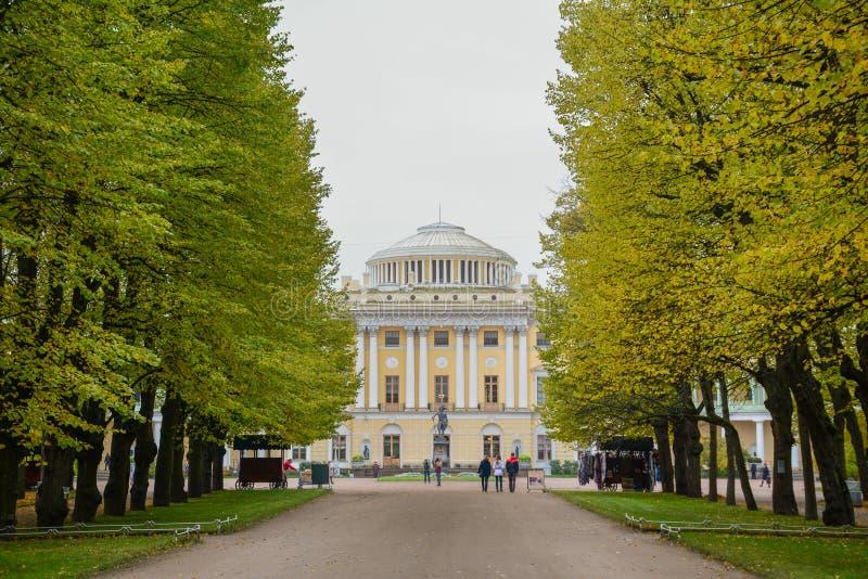 Pavlovsk-Palast in St Petersburg, Russland lizenzfreie stockfotografie