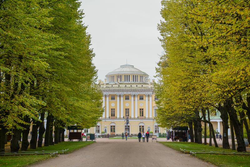 Pavlovsk Paleis in Heilige Petersburg, Rusland royalty-vrije stock fotografie