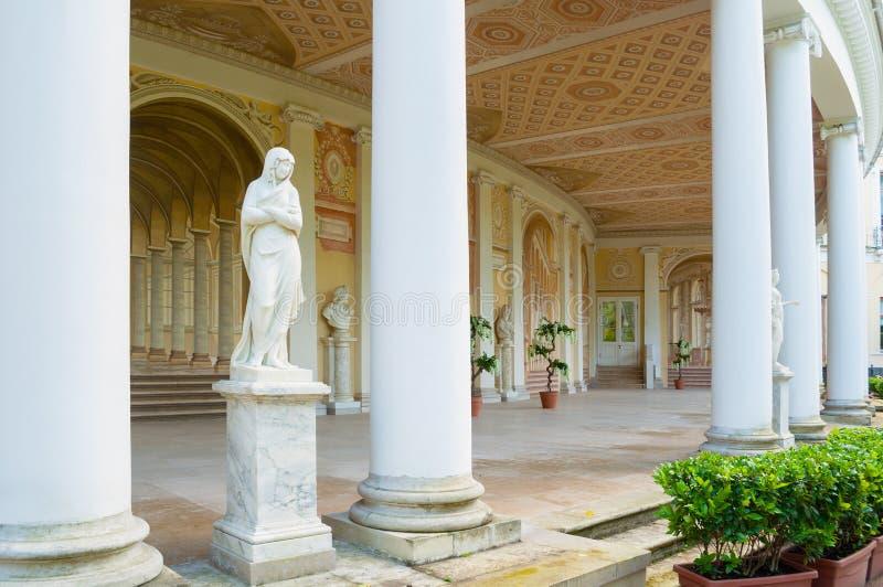 Pavlovsk, Rusland Gonzaga Gallery-de bouw, architecturale en freskoensemble in Pavlovsk, St. Petersburg, Rusland stock foto's
