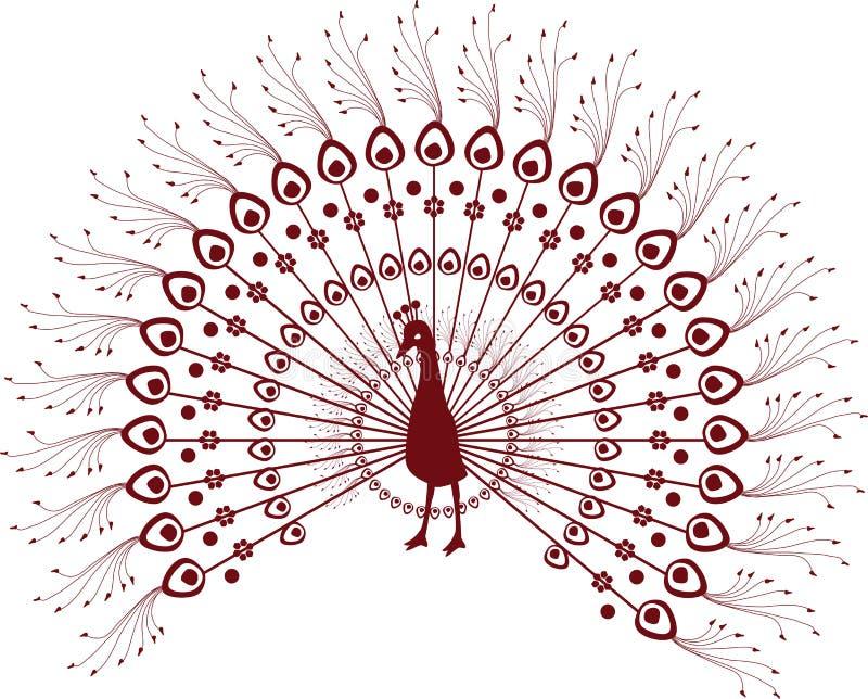 Pavo real de la alheña libre illustration