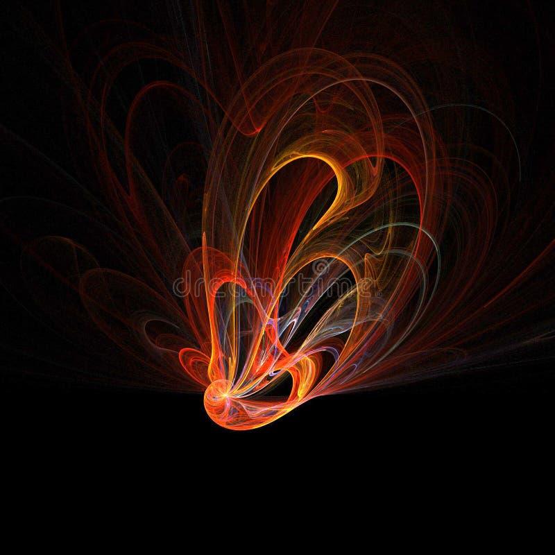 Pavo real del fuego libre illustration