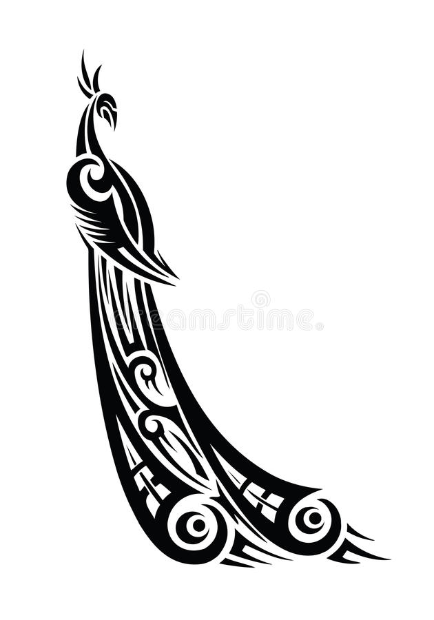 Pavo real tribal libre illustration