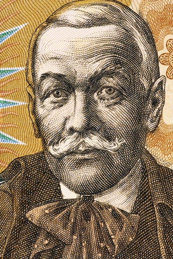 Pavol Orszagh Hviezdoslav royaltyfria foton