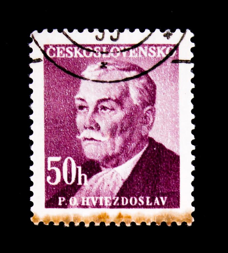 Pavol Orszagh Hviezdoslav, Dichter, Dramatist, Übersetzer, circa 1949 lizenzfreies stockbild