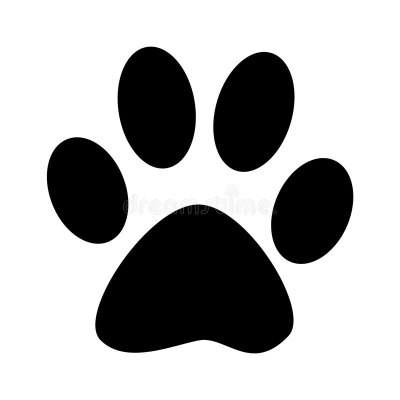 Paw Print. On White Background