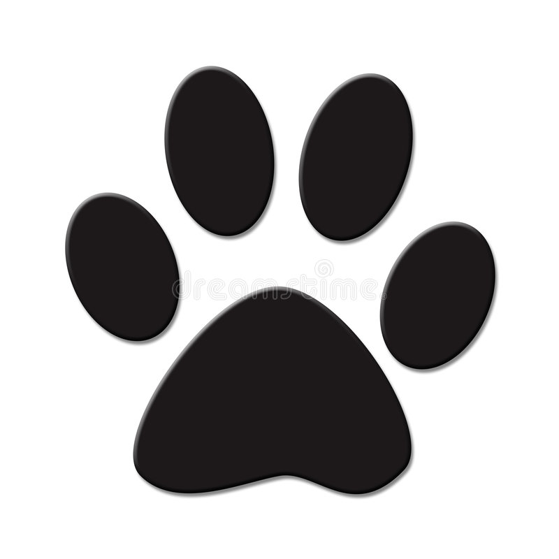 Download Paw print stock illustration. Illustration of clipart - 8125126