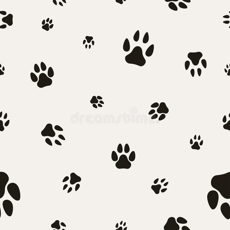 Paw Print animal sur le blanc illustration stock