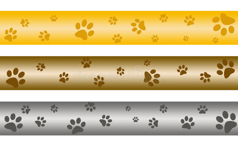Paw print banners vector illustration
