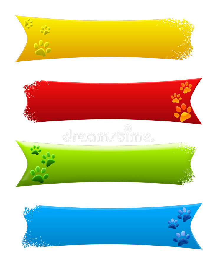 Paw Print Banners Stock Photos