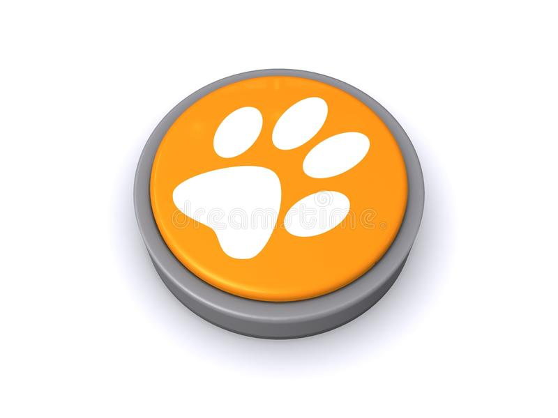 Download Paw print button stock illustration. Image of button - 26167540