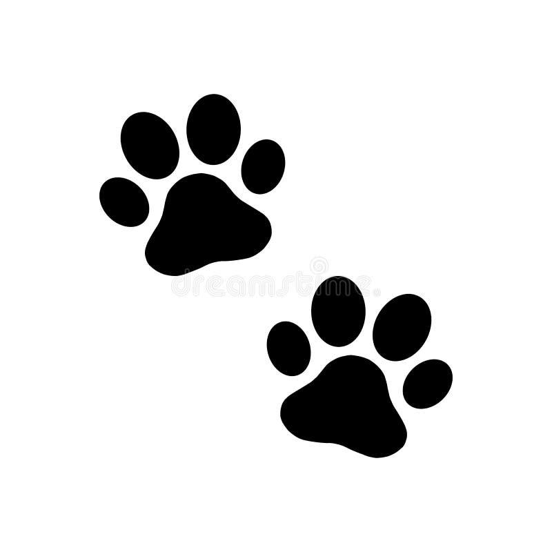 Paw print dog. On white back. Vector royalty free illustration