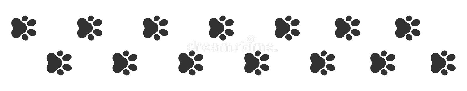 Paw Print Ejemplo del vector, animal de Paw Print libre illustration