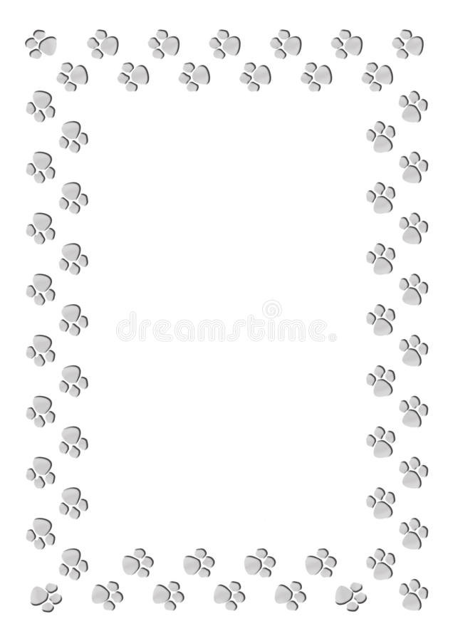 Paw print frame vector illustration