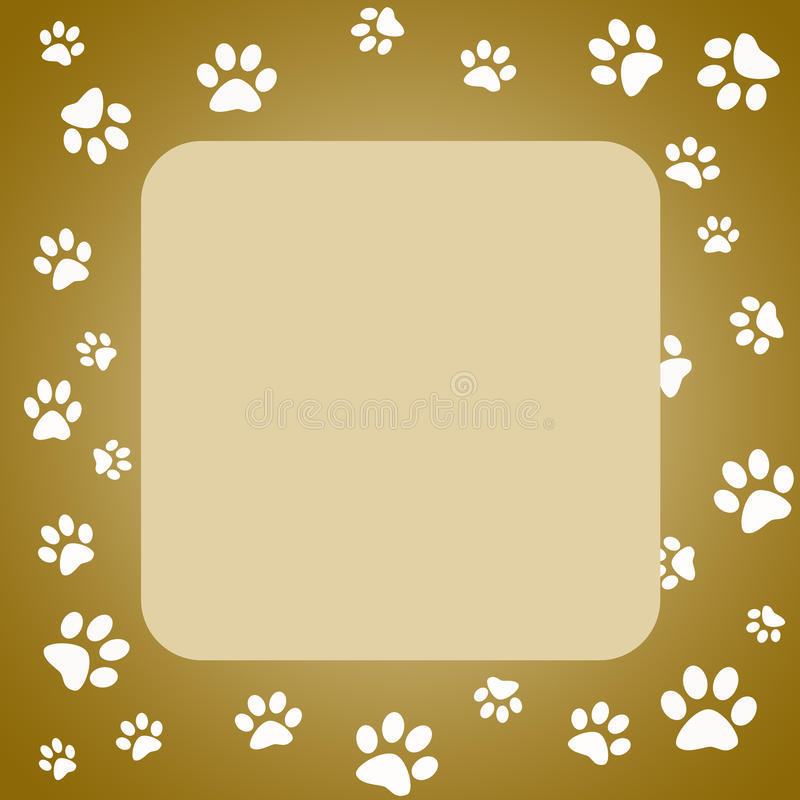 Download Paw print frame stock illustration. Image of graphic - 10531302
