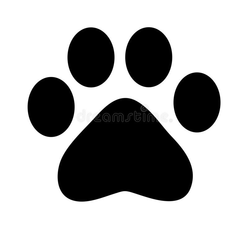 Paw Print Icon stock abbildung