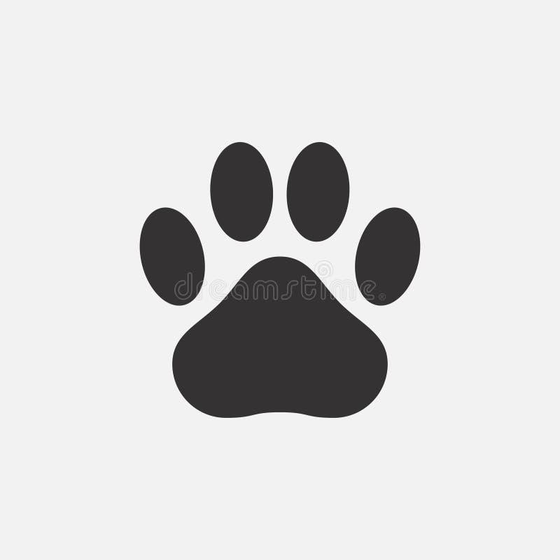 Paw Print Icon Abdruck eines Tieres - Katze, Hund, Bär Vektor lizenzfreie abbildung