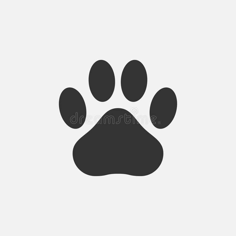 Paw Print Icon Huella de un animal - gato, perro, oso Vector libre illustration